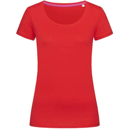 Megan Crew Neck for women in Crimson Red von Stedman® (Artnum: S9120