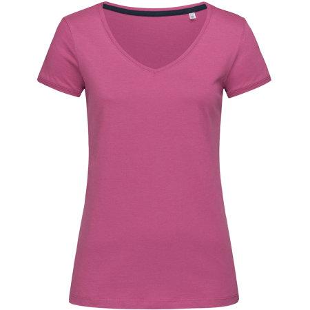 Megan V-Neck for women in Cupcake Pink von Stedman® (Artnum: S9130