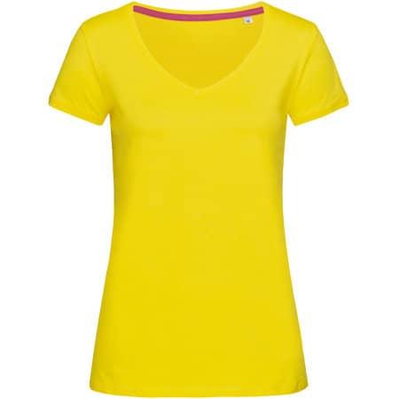 Megan V-Neck for women in Daisy Yellow von Stedman® (Artnum: S9130