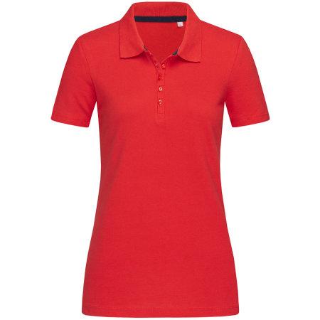 Hanna Polo for women in Crimson Red von Stedman® (Artnum: S9150