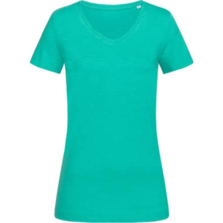 Sharon Slub V-Neck for women von Stedman® (Artnum: S9510
