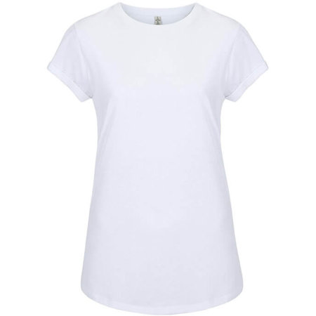 Salvage Womens Rolled Sleeve in Dove White von Continental Clothing (Artnum: SA16