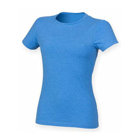 Ladies` Feel Good Stretch T in Heather Blue von SF Women (Artnum: SF121