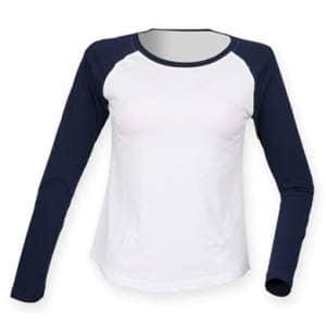 Ladies` Long Sleeved Baseball T