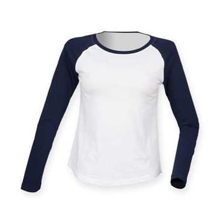 Ladies` Long Sleeved Baseball T von SF Women (Artnum: SF271
