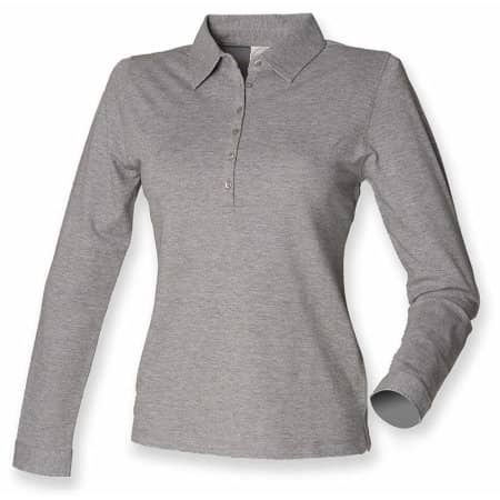 Ladies` Long Sleeved Stretch Polo von SF Women (Artnum: SF44