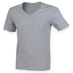 Men`s Wide V-Neck T-Shirt