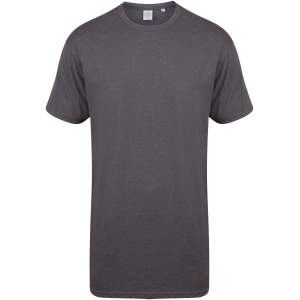 Men`s Longline T-Shirt With Dipped Hem