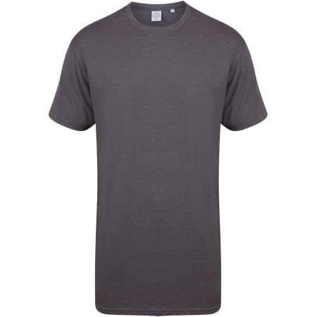 Men`s Longline T-Shirt With Dipped Hem von SF Men (Artnum: SFM258