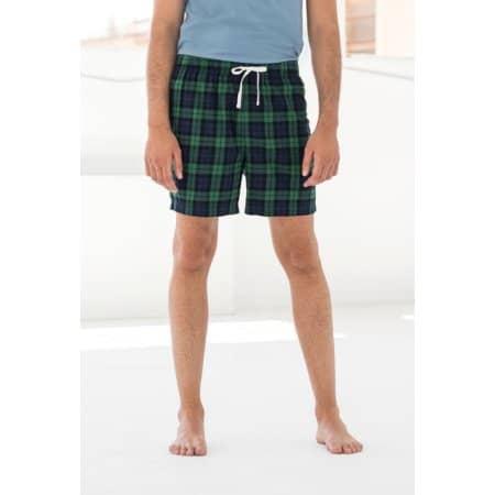 Men´s Tartan Lounge Shorts von SF Men (Artnum: SFM82