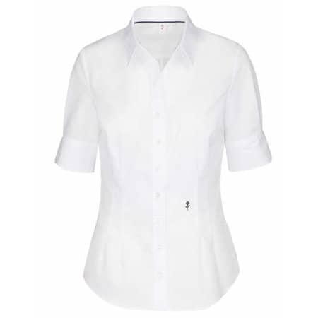 Women`s Blouse Slim Fit Shortsleeve in White von Seidensticker (Artnum: SN080614