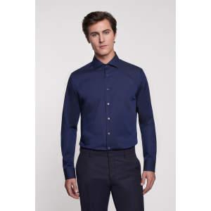 Men Shirt Tailored Long Sleeve