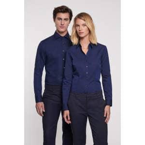 Men Shirt Slim Long Sleeve