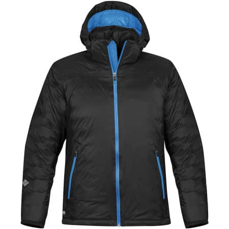 Mens Black Ice- Thermal Jacket in Black|Electric Blue von Stormtech (Artnum: ST78