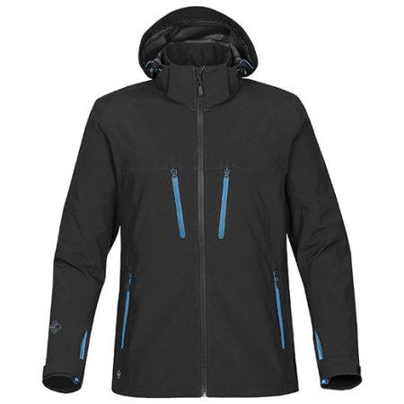 Mens Patrol Softshell Jacket in Black|Electric Blue von Stormtech (Artnum: ST83