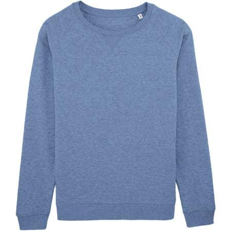 Stella Trips Sweatshirt in Mid Heather Blue von Stanley/Stella (Artnum: STSW049
