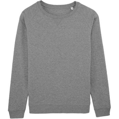 Stella Trips Sweatshirt in Mid Heather Grey von Stanley/Stella (Artnum: STSW049