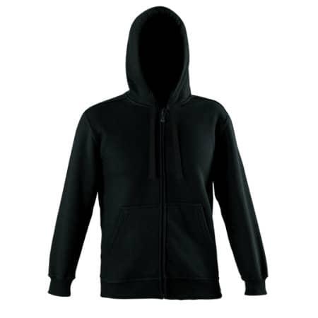 Zip Through Hooded Sweat Jacket in Black von Starworld (Artnum: SW250