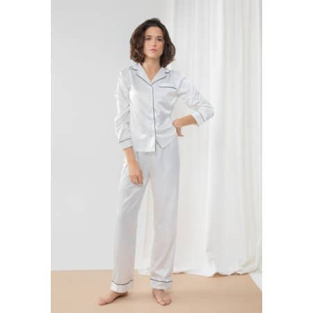 Ladies Satin Long Pyjamas von Towel City (Artnum: TC055