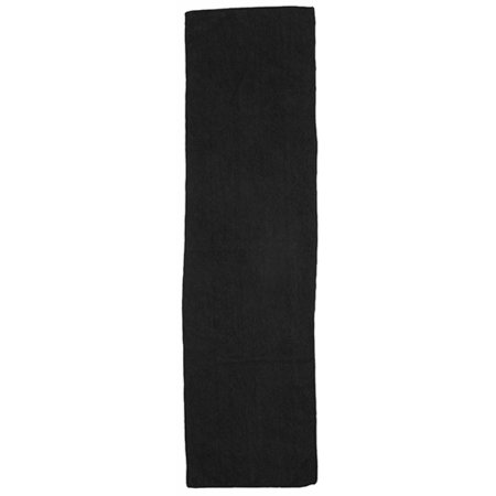 Microfibre Sports Towel in Black von Towel City (Artnum: TC17