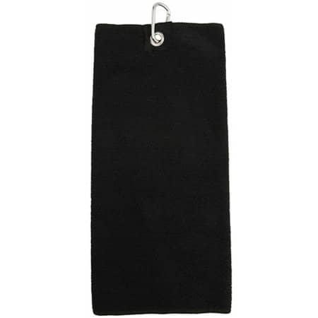 Microfiber Golf Towel in Black von Towel City (Artnum: TC19