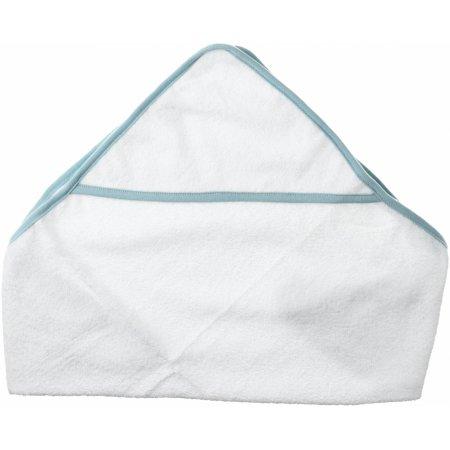 Babies Hooded Towel in White|Blue von Towel City (Artnum: TC36