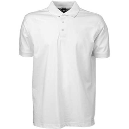 Luxury Stretch Polo in White von Tee Jays (Artnum: TJ1405