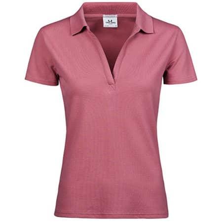 Womens Luxury Stretch V-Neck Polo in Rose von Tee Jays (Artnum: TJ1409