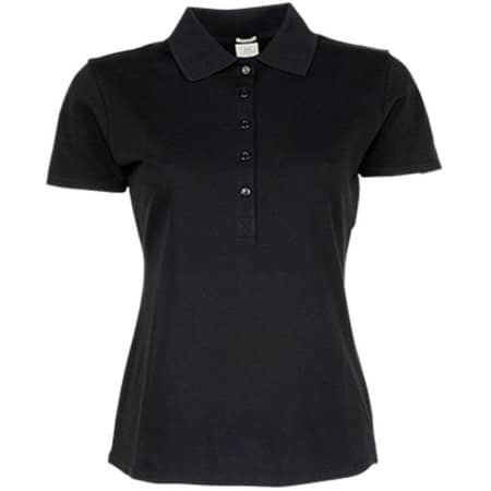 Ladies` Luxury Stretch Polo in Black von Tee Jays (Artnum: TJ145