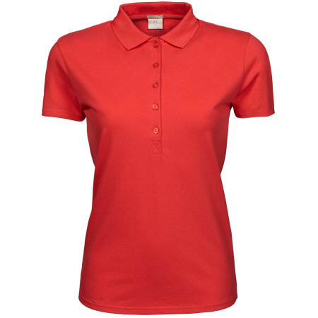 Ladies` Luxury Stretch Polo in Coral von Tee Jays (Artnum: TJ145