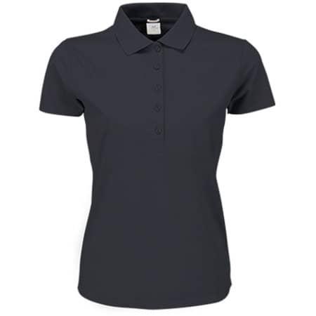 Ladies` Luxury Stretch Polo in Dark Grey (Solid) von Tee Jays (Artnum: TJ145