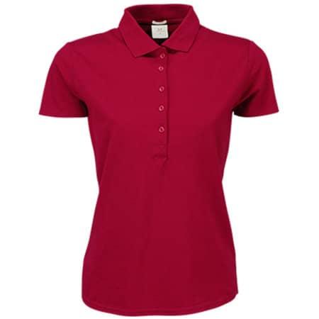 Ladies` Luxury Stretch Polo in Deep Red von Tee Jays (Artnum: TJ145