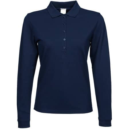 Ladies` Luxury Stretch Long Sleeve Polo von Tee Jays (Artnum: TJ146