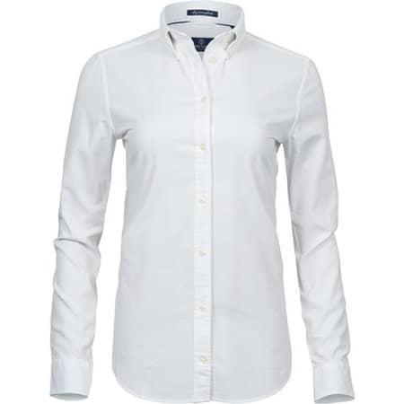 Ladies Perfect Oxford Shirt in White von Tee Jays (Artnum: TJ4001