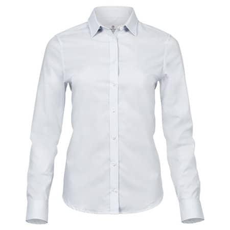 Ladies Stretch Luxury Shirt in White von Tee Jays (Artnum: TJ4025