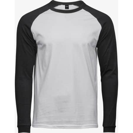 Baseball Tee in White Black von Tee Jays (Artnum: TJ5072