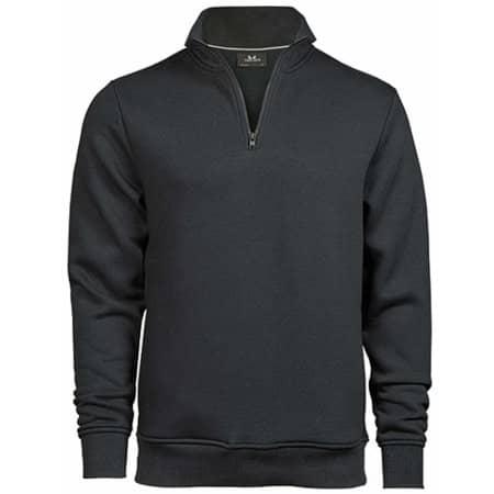 Half Zip Sweatshirt in Dark Grey (Solid) von Tee Jays (Artnum: TJ5438