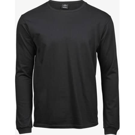 Long Sleeve Fashion Sof Tee in Black von Tee Jays (Artnum: TJ8007