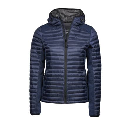 Ladies` Hooded Aspen Crossover Jacket in Navy|Navy Melange von Tee Jays (Artnum: TJ9611