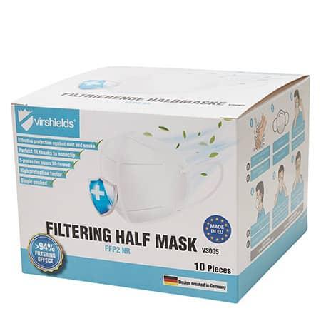 Filtering Half Mask FFP2 NR (Pack of 10) von Virshields® (Artnum: VS005