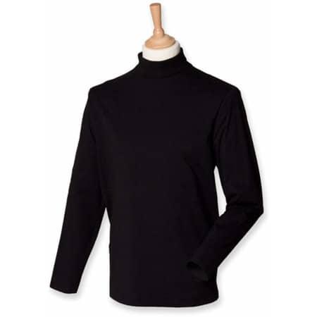 Roll-Neck Long-Sleeve T-Shirt in Black von Henbury (Artnum: W020