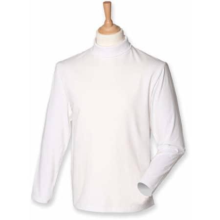 Roll-Neck Long-Sleeve T-Shirt von Henbury (Artnum: W020