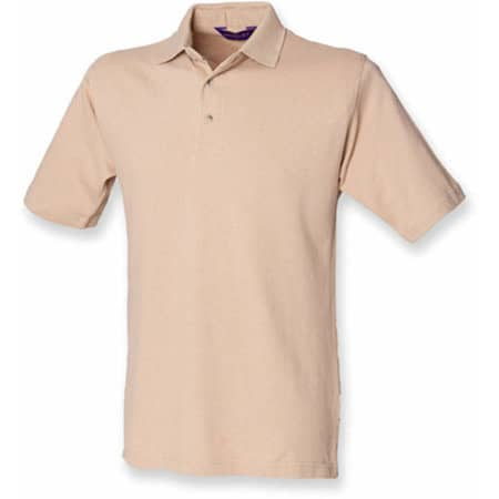 Classic Cotton Piqué Polo Shirt in Camel von Henbury (Artnum: W100