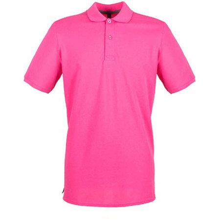 Modern Fit Cotton Microfine-Piqué Polo Shirt in Fuchsia von Henbury (Artnum: W101