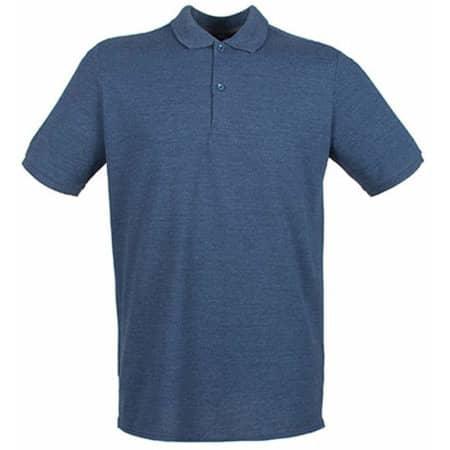 Modern Fit Cotton Microfine-Piqué Polo Shirt in Heather Navy von Henbury (Artnum: W101