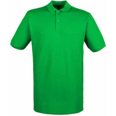 Modern Fit Cotton Microfine-Piqué Polo Shirt in Kelly Green von Henbury (Artnum: W101