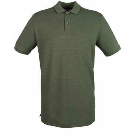 Modern Fit Cotton Microfine-Piqué Polo Shirt in Olive von Henbury (Artnum: W101
