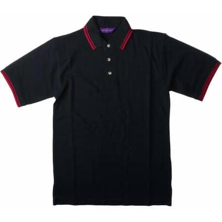 Tipped Piqué Polo Shirt von Henbury (Artnum: W150
