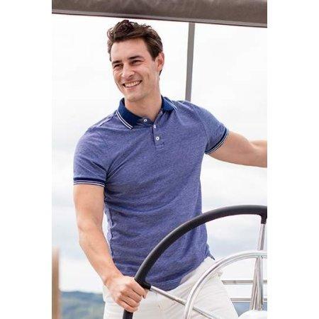 Men`s 2-Tone Pique Tipped Polo Shirt von Henbury (Artnum: W151