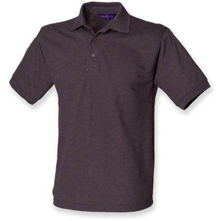 Men`s 65/35 Classic Piqué Polo Shirt in Dark Grey (Solid) von Henbury (Artnum: W400